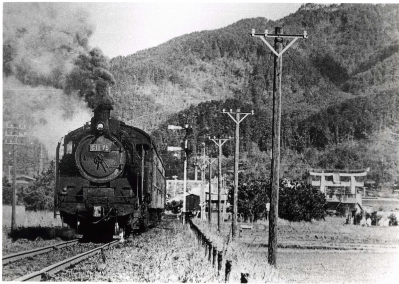 Last locomotive running in 1974.
